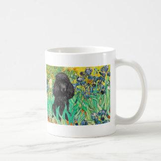 Poodle (black 1) - Irises Coffee Mug