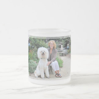 Poodle - Brulee - Trainer Frosted Glass Coffee Mug