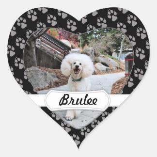 Poodle - Brulee - Trainer Heart Sticker