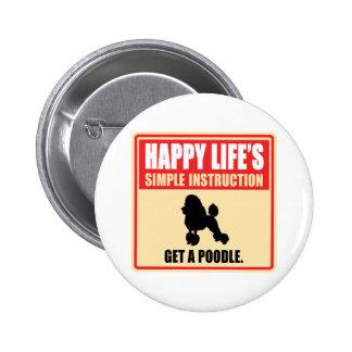 Poodle Pinback Button