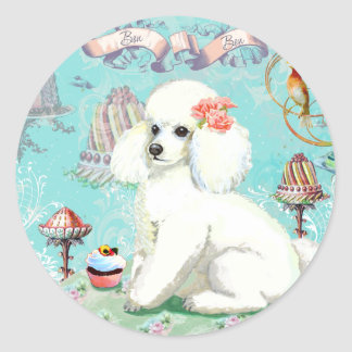 Poodle Cakes Classic Round Sticker