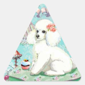 Poodle Cakes Cupcake Bon Bon Triangle Sticker