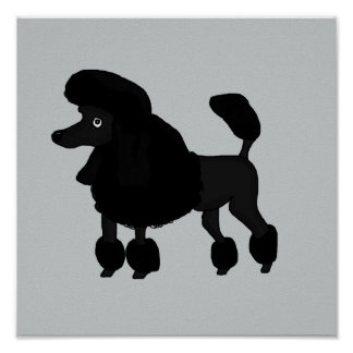 Poodle cards and paper products poster