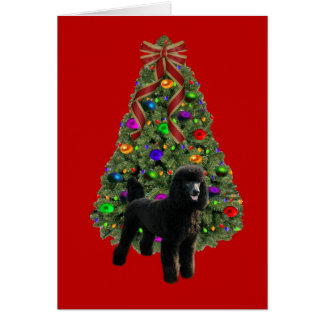 Poodle  Christmas Card Tree