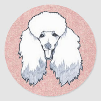poodle classic round sticker