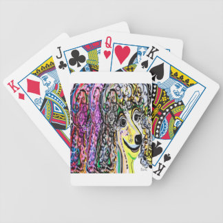 Poodle Color Transition Bicycle Playing Cards