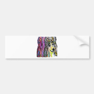 Poodle Color Transition Bumper Sticker