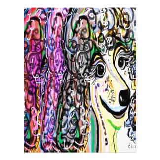 Poodle Color Transition Letterhead