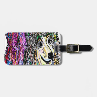 Poodle Color Transition Luggage Tag