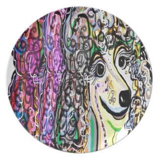 Poodle Color Transition Plate