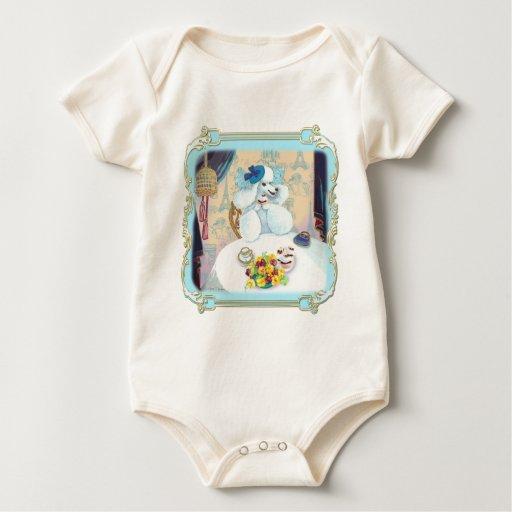 Poodle Cupcake Tea Party Baby Bodysuit