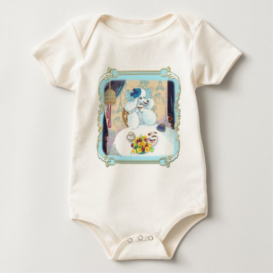 Poodle Cupcake Tea Party Baby Bodysuit