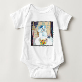 Poodle cupcake Tea Party Baby T Shirts