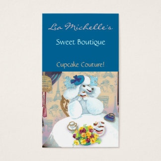 Poodle Cupcake Tea Party Business Card