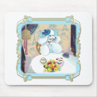 Poodle Cupcake Tea Party Mouse Pad