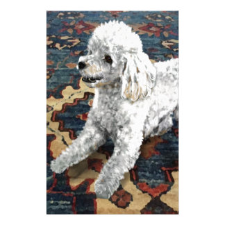 Poodle Customized Stationery