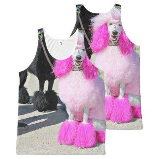 Poodle Day 2016 - Barnes - Pink Standard Poodle All-Over-Print Tank Top