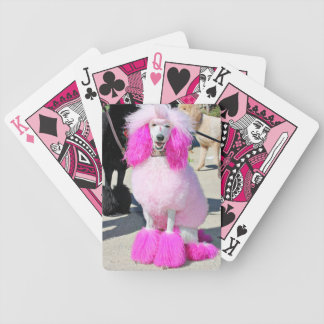 Poodle Day 2016 - Barnes - Pink Standard Poodle Bicycle Playing Cards