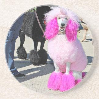 Poodle Day 2016 - Barnes - Pink Standard Poodle Drink Coasters