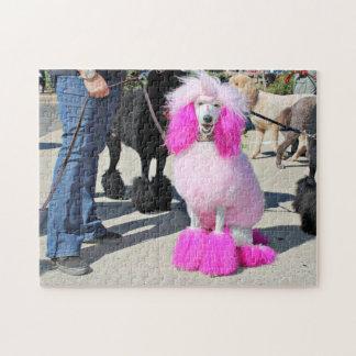 Poodle Day 2016 - Barnes - Pink Standard Poodle Jigsaw Puzzle