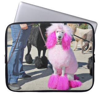 Poodle Day 2016 - Barnes - Pink Standard Poodle Laptop Sleeve