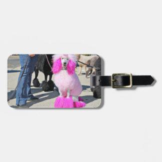 Poodle Day 2016 - Barnes - Pink Standard Poodle Luggage Tag