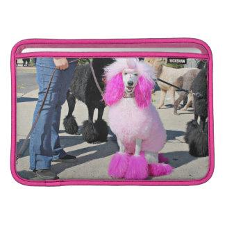 Poodle Day 2016 - Barnes - Pink Standard Poodle MacBook Sleeve