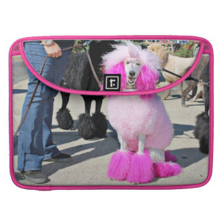Poodle Day 2016 - Barnes - Pink Standard Poodle Sleeve For MacBooks