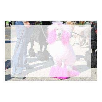 Poodle Day 2016 - Barnes - Pink Standard Poodle Stationery Paper