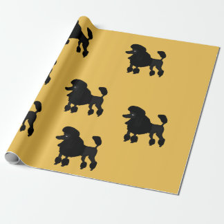 Poodle design wrapping paper