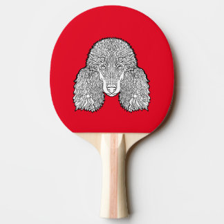 Poodle - Detailed Dogs Ping Pong Paddle