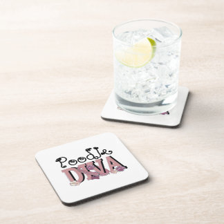 Poodle DIVA Drink Coasters