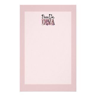 Poodle DIVA Personalized Stationery