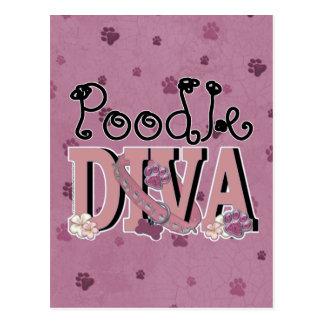 Poodle DIVA Postcard
