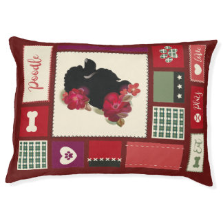 Poodle DOG BED red