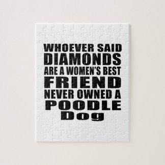 POODLE DOG BEST FRIEND DESIGNS JIGSAW PUZZLE