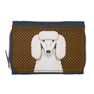 Poodle Dog Cartoon Paws Wallet