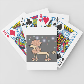 Poodle dog galaxy sky bicycle playing cards