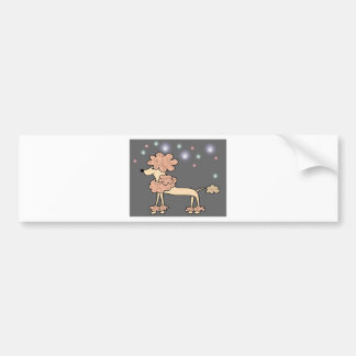 Poodle dog galaxy sky bumper sticker