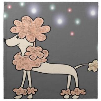 Poodle dog galaxy sky napkin