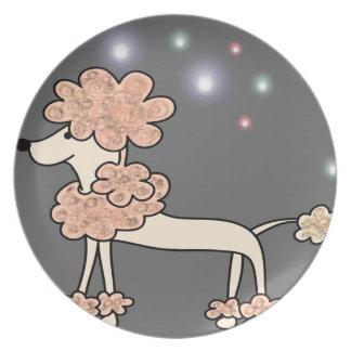 Poodle dog galaxy sky plate