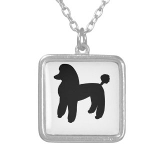 Poodle Dog Silver Plated Necklace