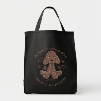 Poodle Doodle Grocery Tote Bag