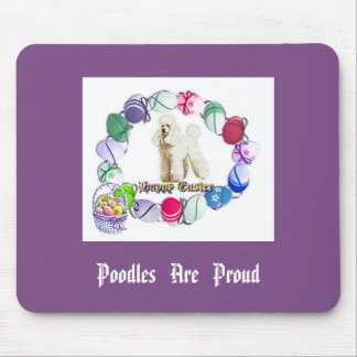 Poodle Easter Mousepad