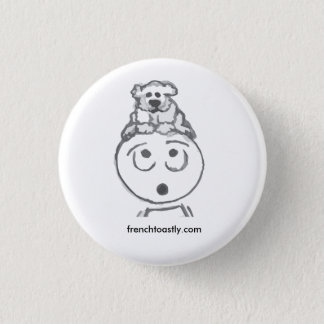 Poodle @frenchtoastly 1 inch round button