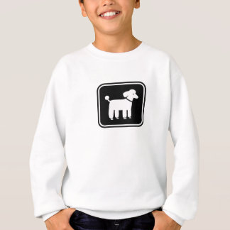 Poodle Graphic (White on Black) Sweatshirt