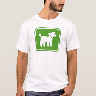 Poodle (Green) T-Shirt