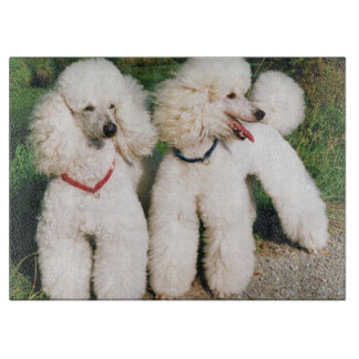 poodle group white cutting board