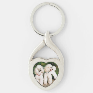 poodle group white keychain