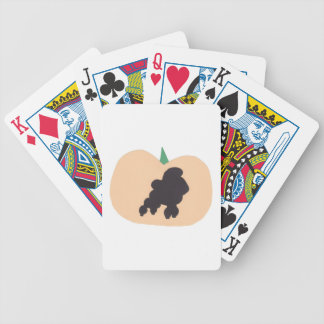 Poodle Halloween Playing Cards